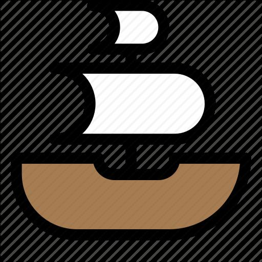 Boat, Pirate Boat, Pirates, Pirates Flag, Sails, Ship Icon