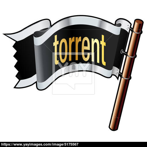 Torrent On Pirate Flag Vector Image