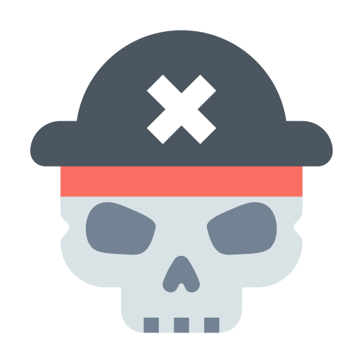 Halloween, Pirate, Roger, Skull Icon Free Of Materia Flat