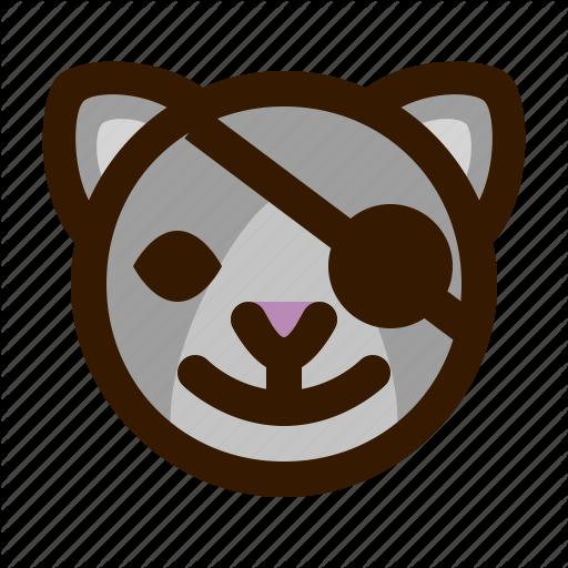 Animal, Avatar, Cat, Emoji, Emoticon, Face, Pirate Icon