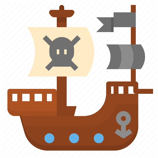 Adventure, Bandits, Boat, Pirate, Sailing, Ship Icon