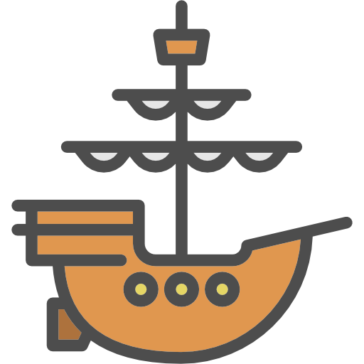 Antique, Pirate, Frigate, Shipping, Ship, Transport Icon