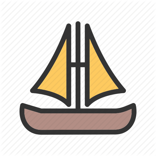 Boat, Cartoon, Flag, Pirate, Sail, Ship, Wooden Icon