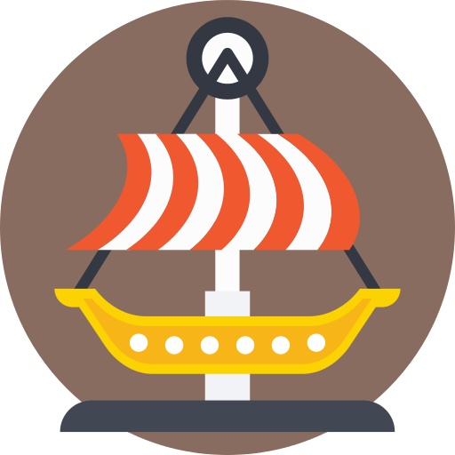 Pirate Ship Amusement Park Png Icon
