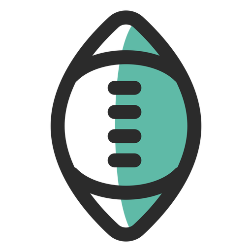 Rugby Ball Colored Stroke Icon