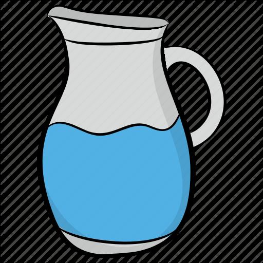 Container, Jug, Kitchen Utensil, Pitcher, Water Jug Icon