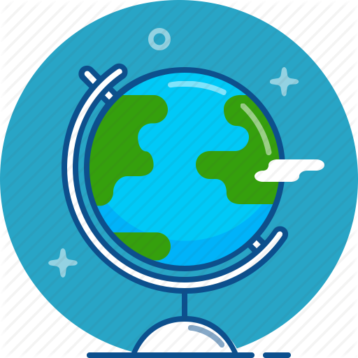 Earth, Geography, Globe, Map, Planet Icon