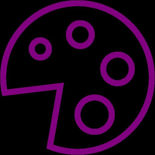 Purple Pizza Icon