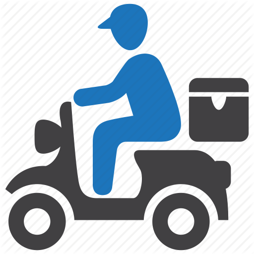 Courier, Delivery, Pizza, Scooter, Shipping Icon