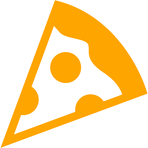 Orange Pizza Icon