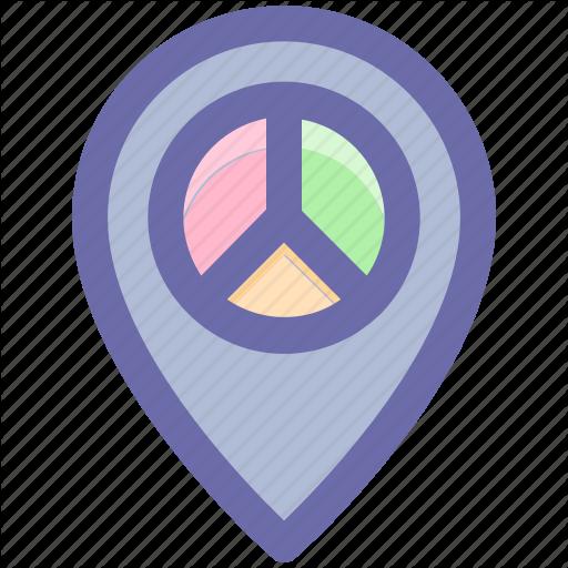 Gps, Location, Map Pin, Navigation, Navigation Pie, Pie, Place Icon