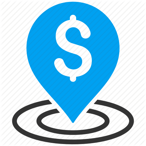 Bank Location, Dollar, Map Pointer, Place, Placement, Point