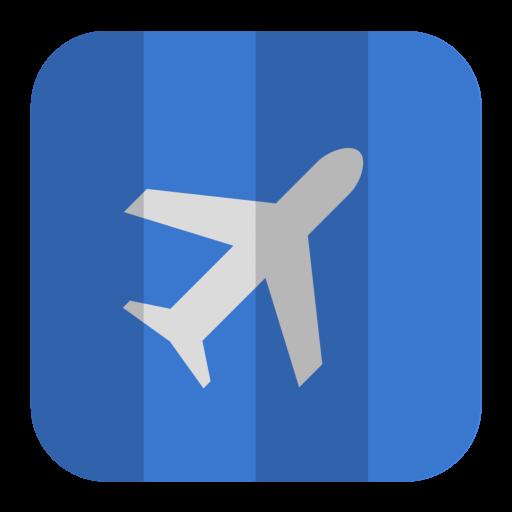 Air Plane Icon Folded Flat Iconset Pelfusion