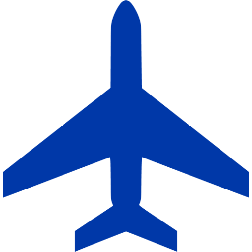 Blue Airplane Silhouette Great Free Clipart, Silhouette