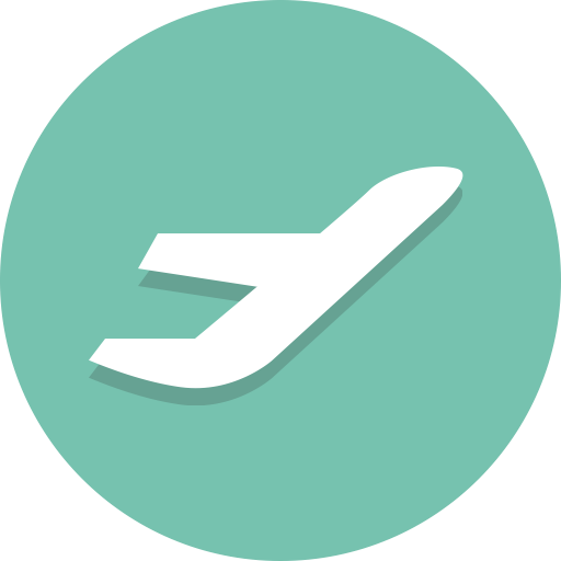 Airplane, Departure, Plane, Takeoff Icon