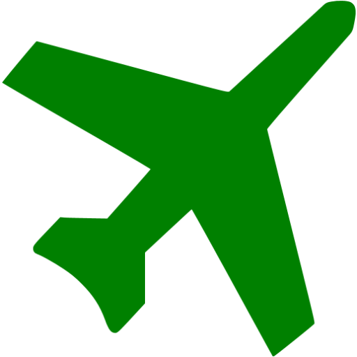 Green Airplane Icon