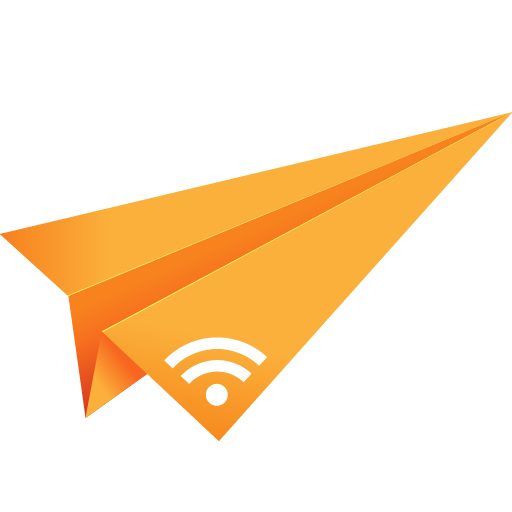 Orange, Origami, Paper Plane, Rss, Social Media Icon