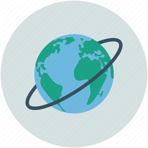 Earth, Planet, Planet Earth, Planet With Ring Icon