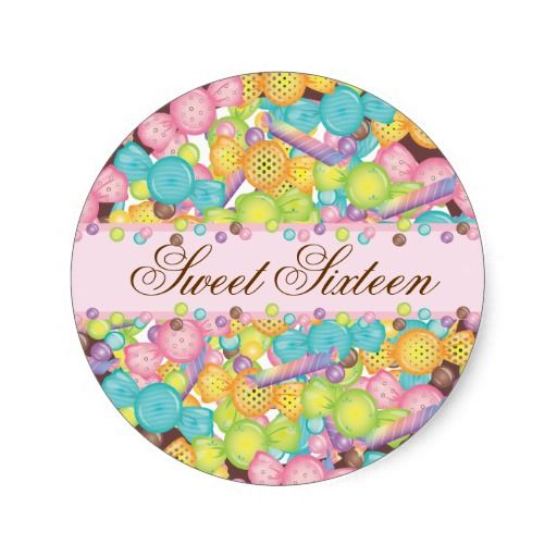 Very Sweet Colorful Candy Collection Birthday Classic Round