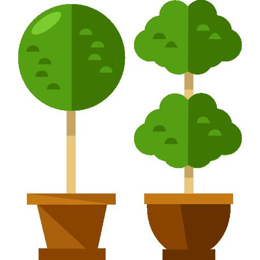 Plants, Trees, Silhouette, Tree, Nature, Shape, Ground, Plant Icon