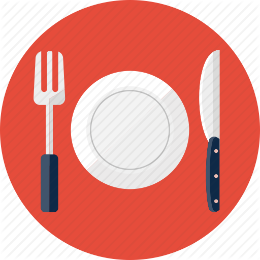 Food, Fork, Knife, Lunch, Plate, Restaurant Icon