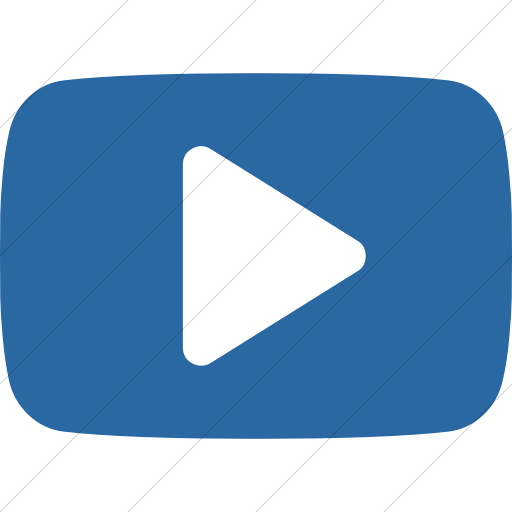 Simple Blue Bootstrap Font Awesome Brands Youtube Play Icon