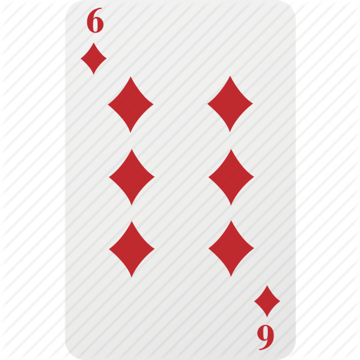 Card, Diamond, Hazad, Playing Cards, Poker, Six Icon
