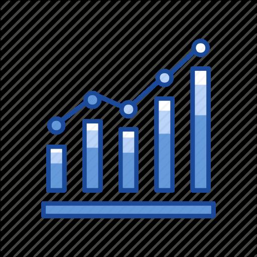 Bar Graph, Chart, Dot Plot Graph, Graph Icon