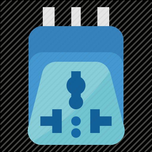 Adaptor, Plug, Power, Universal Icon