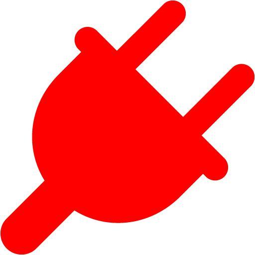 Red Plug Icon