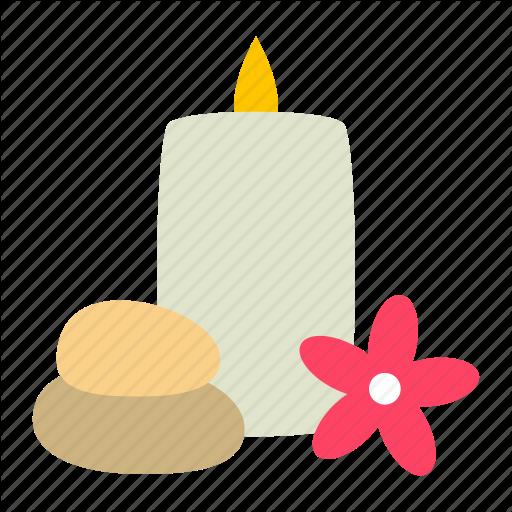 Aromatherapy, Candle, Lotus, Plumeria, Spa, Stones Icon