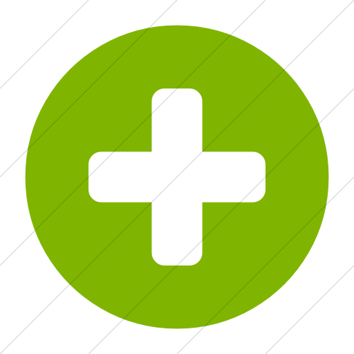 Simple Green Bootstrap Font Awesome Plus Circle Icon