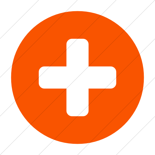 Simple Orange Bootstrap Font Awesome Plus Circle Icon