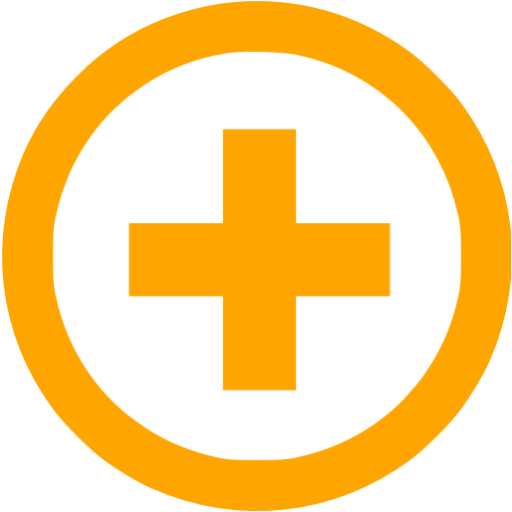 Orange Plus Icon