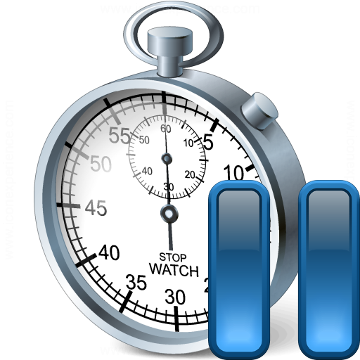 Iconexperience V Collection Stopwatch Pause Icon