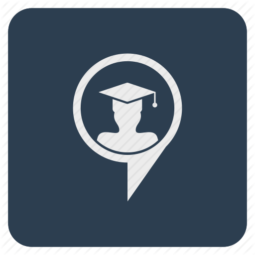 Hat, Location, Phd, Poi, Pointer, Student, University Icon