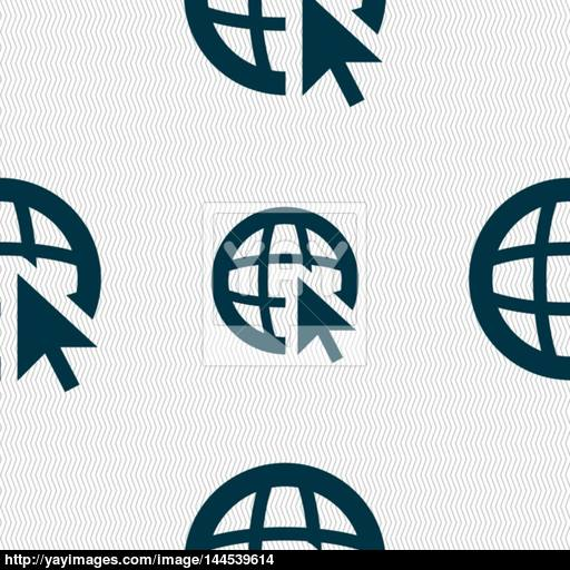 Internet Sign Icon World Wide Web Symbol Cursor Pointer