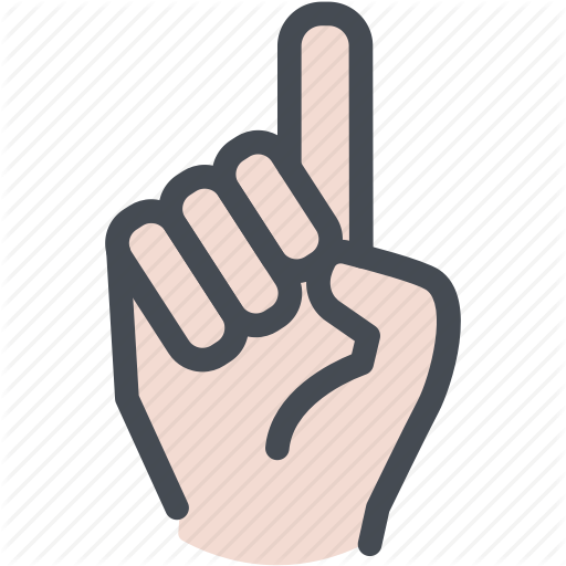 Finger, Hand, No, One, Point, Pointing Up Icon