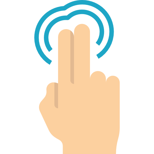 Gesture, Tap, Hands, Pointing, Finger, Gestures Icon