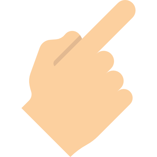 Hand, Pointing, Finger, Gestures Icon
