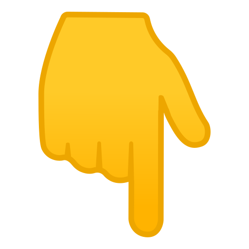 Finger Pointing Down Emoji Meaning With Pictures From A To Z