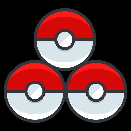 Pokemon, Pokeballs, Play, Go, Game Icon
