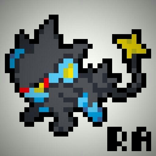 Luxray Icon Pixel Art Checar