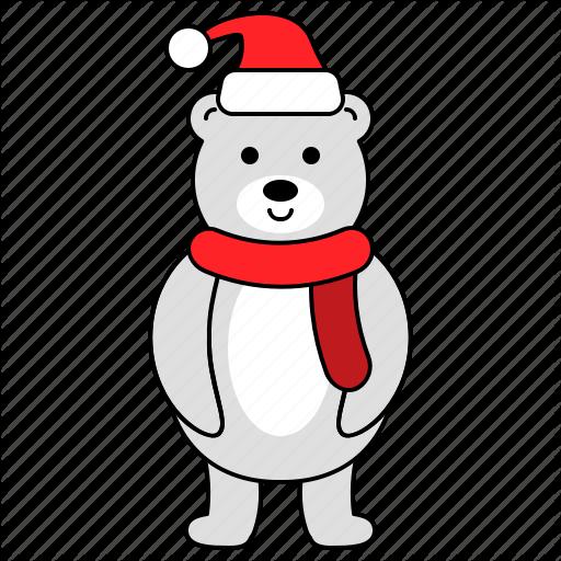 Animal, Bear, Character, Christmas, Polar Bear Icon