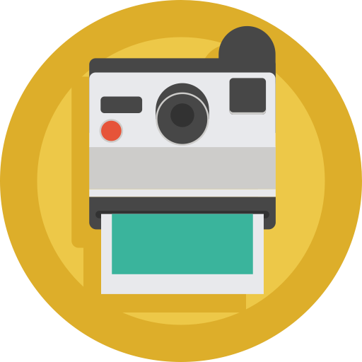 Polaroid, Camera Polaroid, Instant Camera Icon With Png And Vector