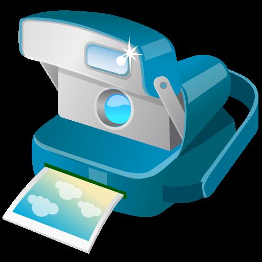 Polaroid Camera Icon Summer Blue Iconset Dapino