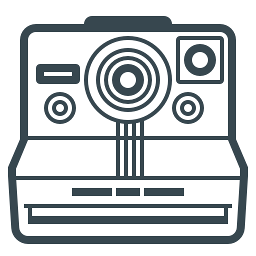 Devices, Polaroid Icon Free Of Hardware, Devices And Gadgets
