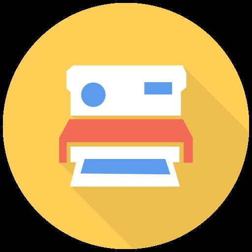 Polaroid Icon Free Flat Multimedia Iconset Designbolts