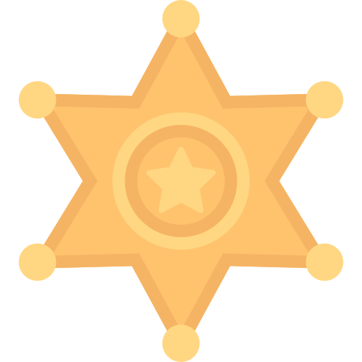 Sheriff, Security, Ranger, Signs, Symbol, Police Badge Icon