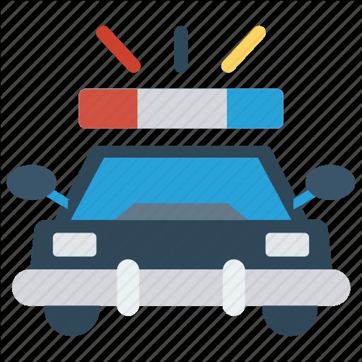 Automobile, Car, Police, Security, Vehicle Icon